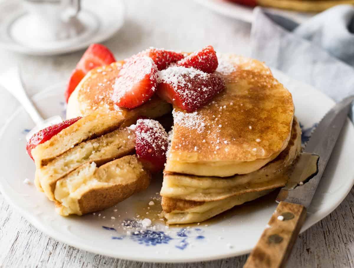 Fluffy Ricotta Pancakes | RecipeTin Eats