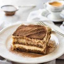Easy Tiramisu with coffee cup