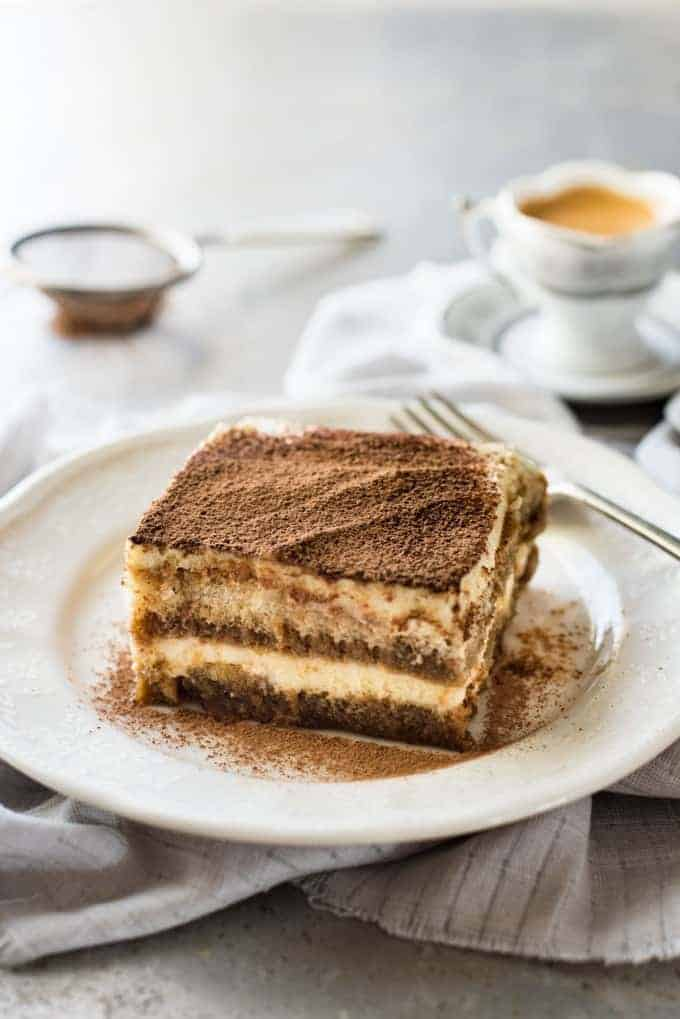 Easy Tiramisu with coffee