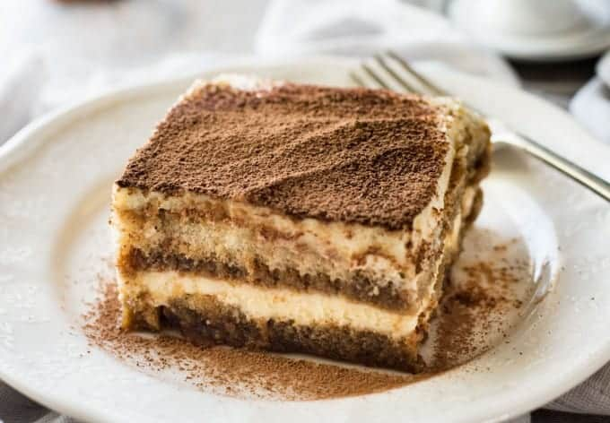 Closeup of Easy Tiramisu