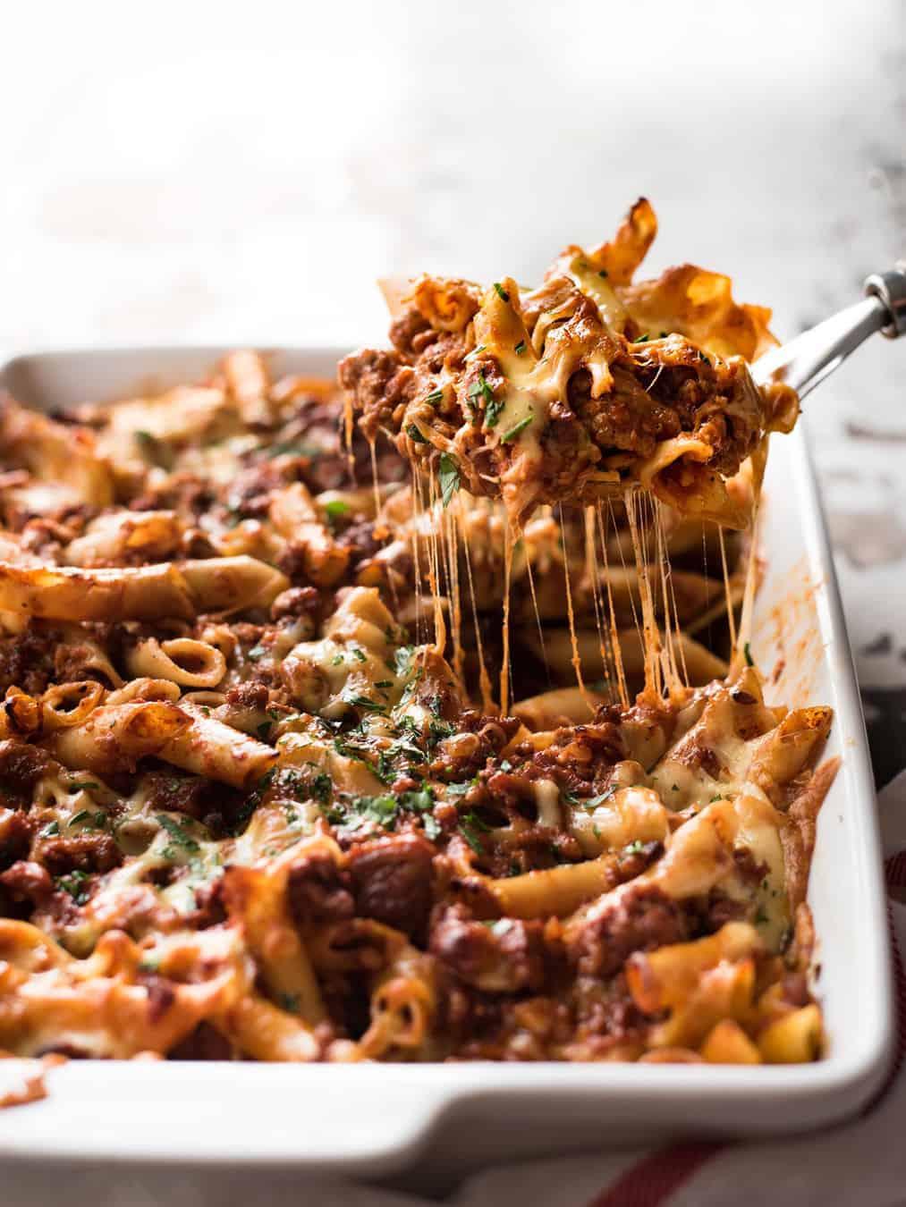 Italian Baked Ziti with Sausage | RecipeTin Eats