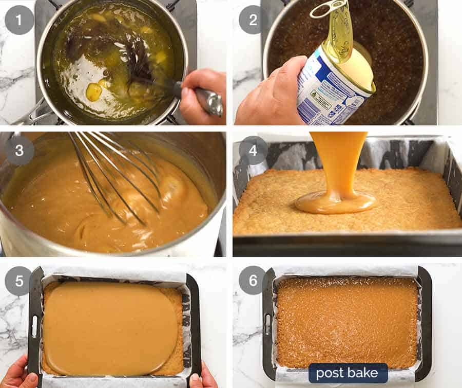 How to make caramel filling for Caramel Slice