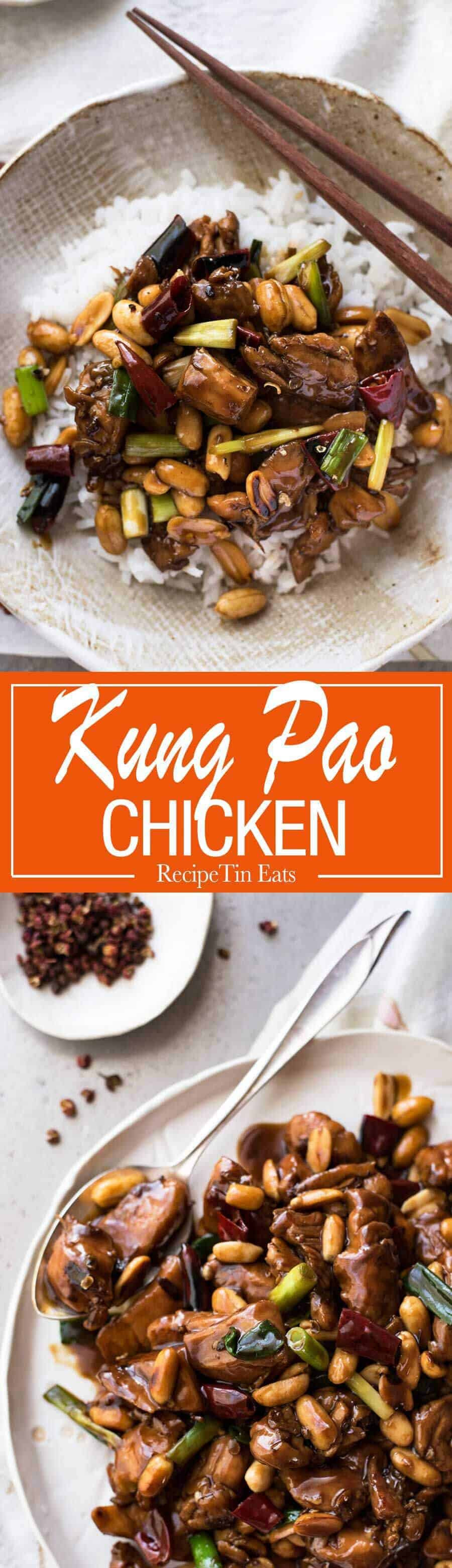 Kung Pao Chicken - Made right with a real restaurant quality sauce! www.recipetineats.com