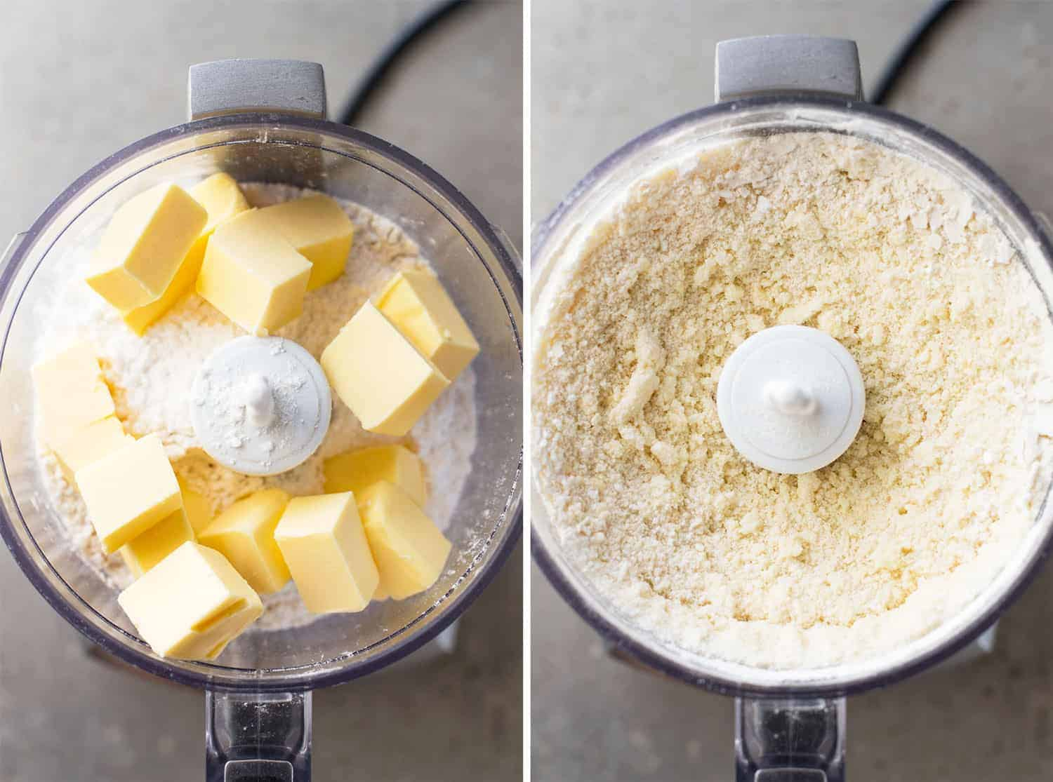 Food processor with mixture for Easy Lemon Bars
