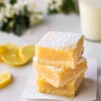 A stack of Easy Lemon Bars