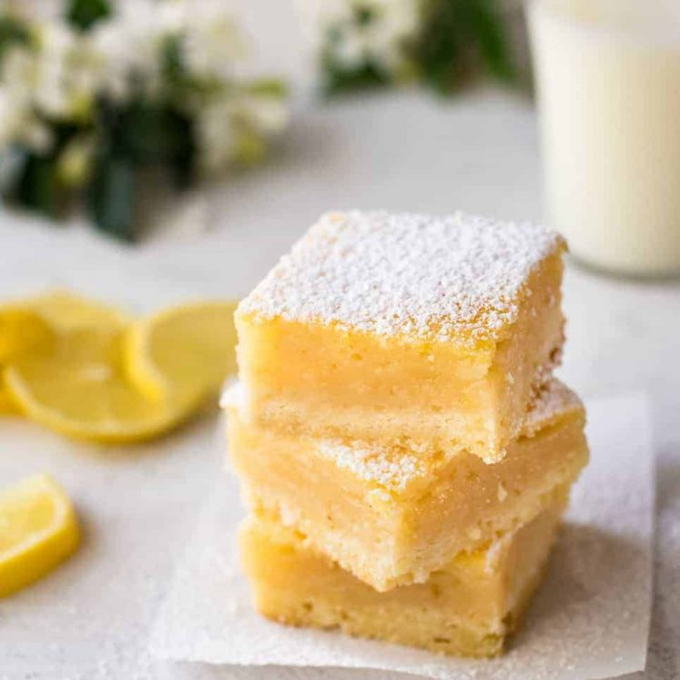 A stack of Easy Lemon Bars