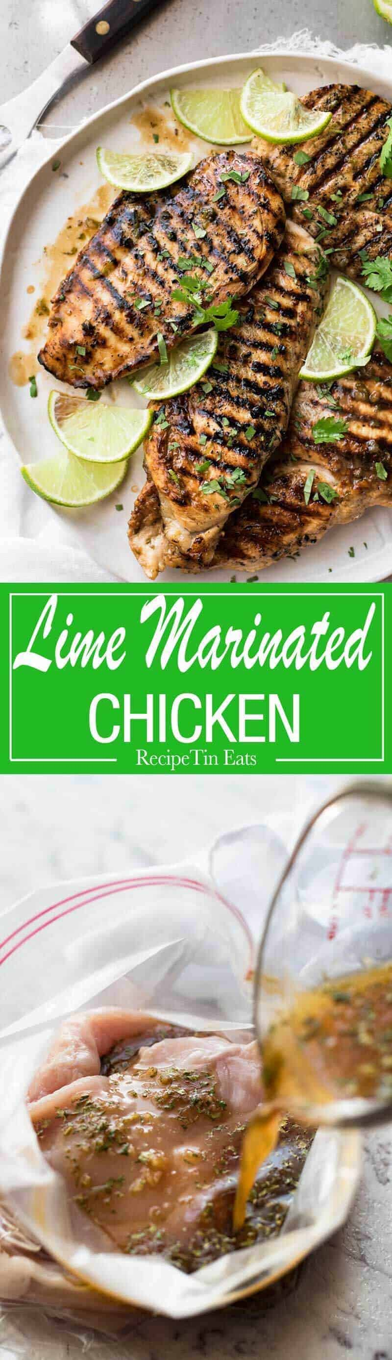 Lovely depth of flavour in this simple marinade that REALLY infuses the chicken with lime flavours! www.recipetineats.com