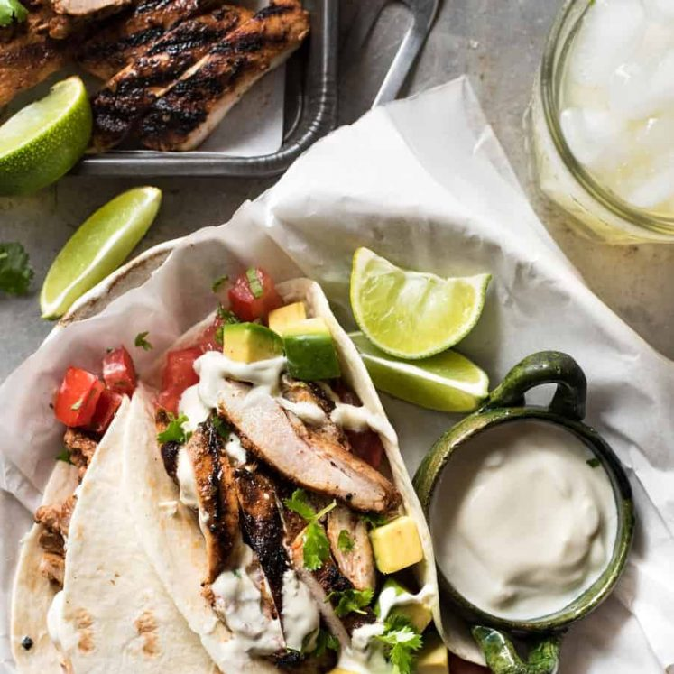 Mexican Grilled Chicken Tacos - Real Mexican street food marinade that's easy to make and packs a big flavour punch!