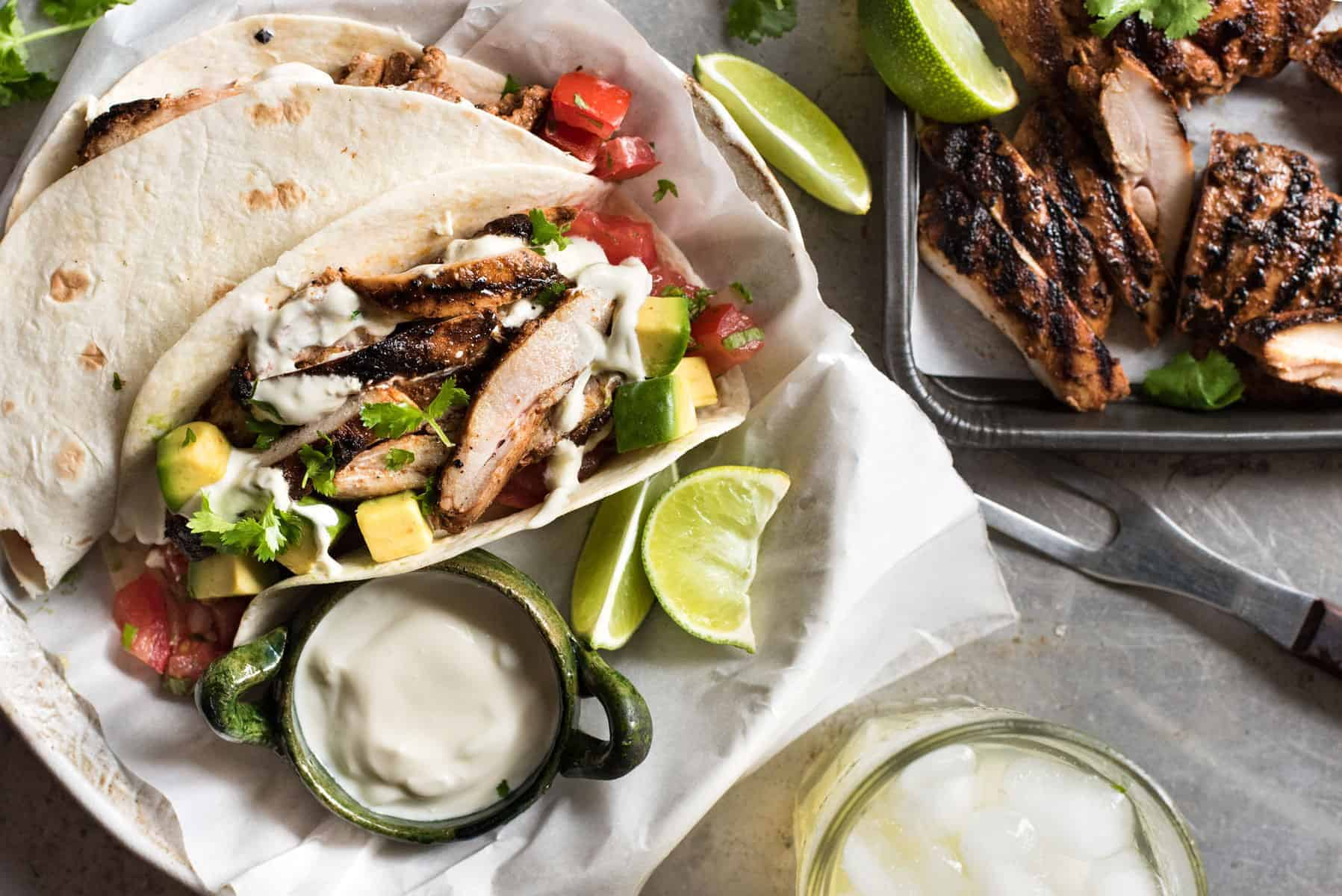 Mexican Grilled Chicken Tacos Recipetin Eats