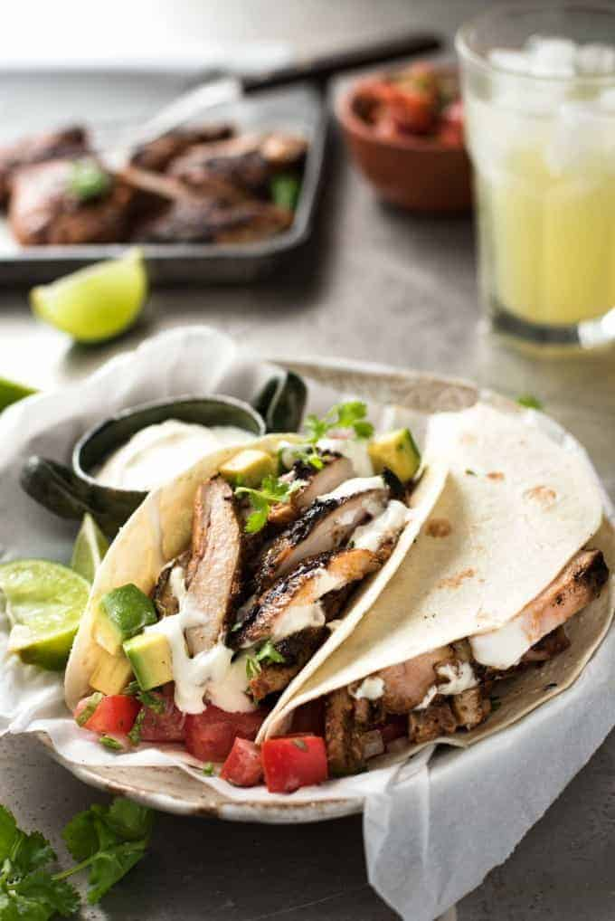 Mexican grilled chicken tacos good food made quick and easy mexican grilled chicken tacos real mexican street food marinade thats easy to make and packs forumfinder Choice Image