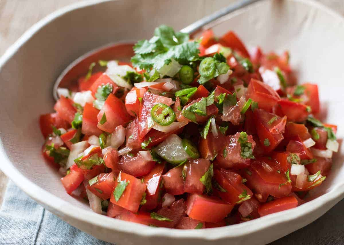 Pico d Gallo (Mexican Tomato Salsa) - A classic, authentic recipe that's easy to make.
