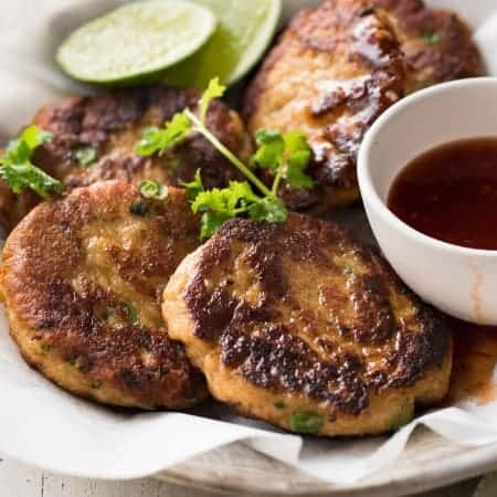 Thai Fish Cakes - This popular Thai appetizer is so simple to make! This is truly restaurant quality.