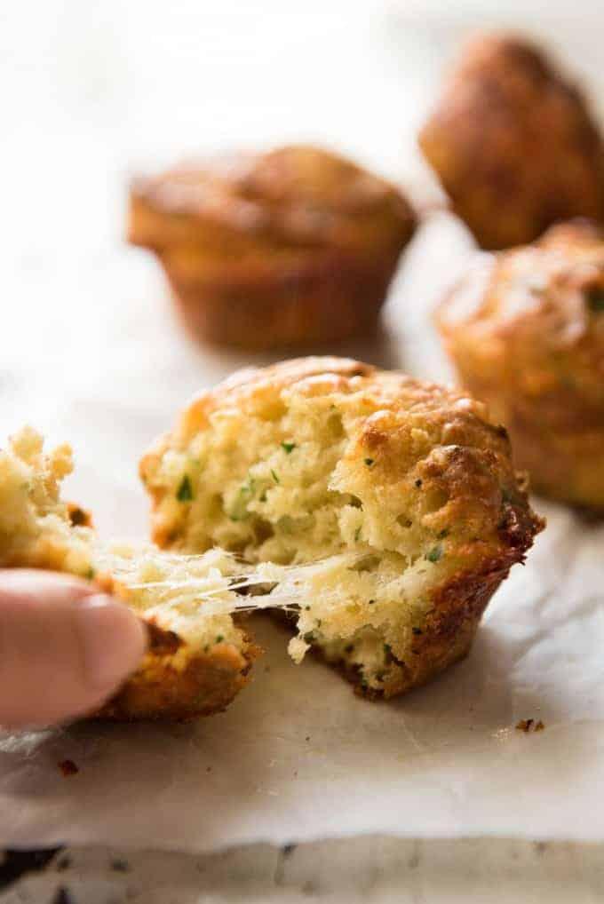 Cheese & Garlic Muffins | My friends all said these taste just like cheesy garlic bread!
