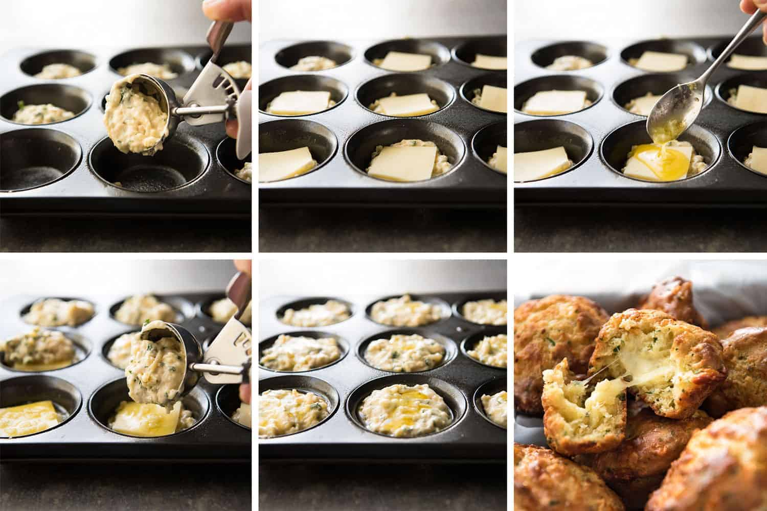 Cheese & Garlic Muffins - This is like cheesy BUTTERY garlic bread....in muffin form!