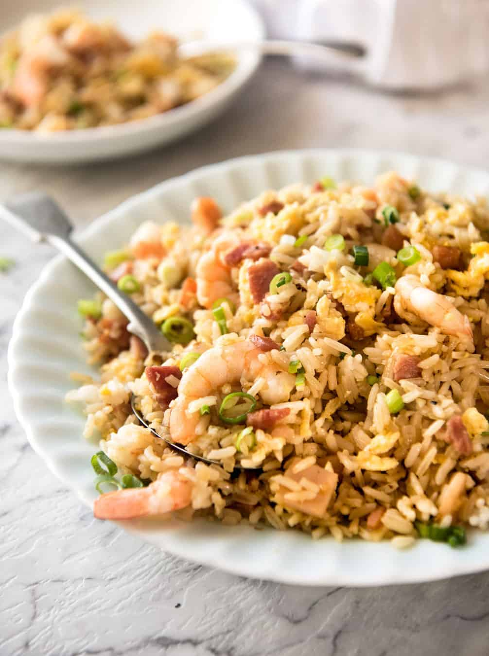 Chinese Fried Rice With Shrimp Prawns Recipetin Eats
