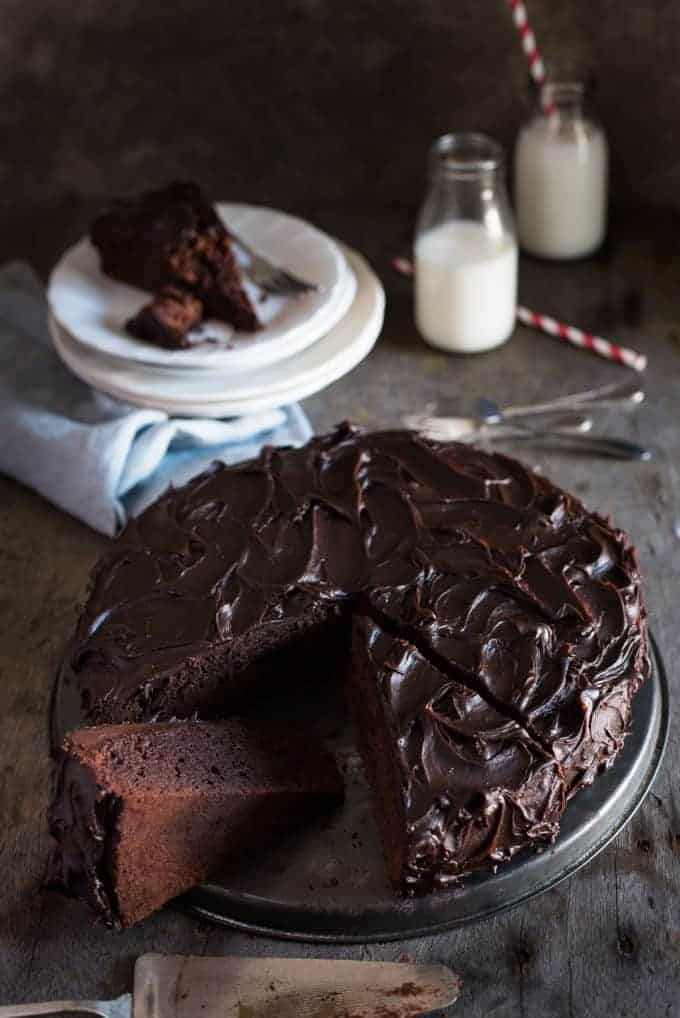 Easy chocolate fudge cake recipetin eats this easy chocolate fudge cake is moist very chocolatey and really easy to make forumfinder Gallery