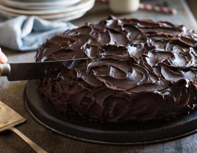 Dense Chocolate Fudge Cake Recipe