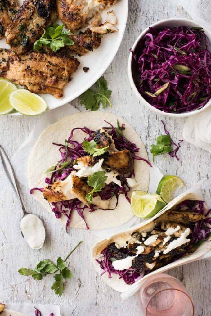Marinated Fish Tacos - The marinade for this fish is so good, I use it even when I'm not making tacos!