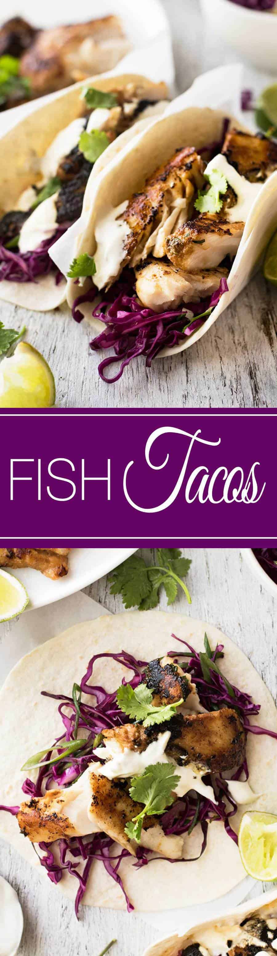 Marinated Fish Tacos | I've been asked for the marinade for these tacos so many times!