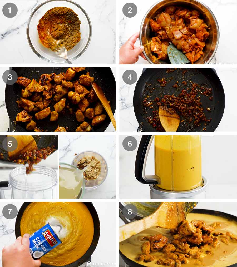 How to make Chicken Satay Curry (Malaysian)
