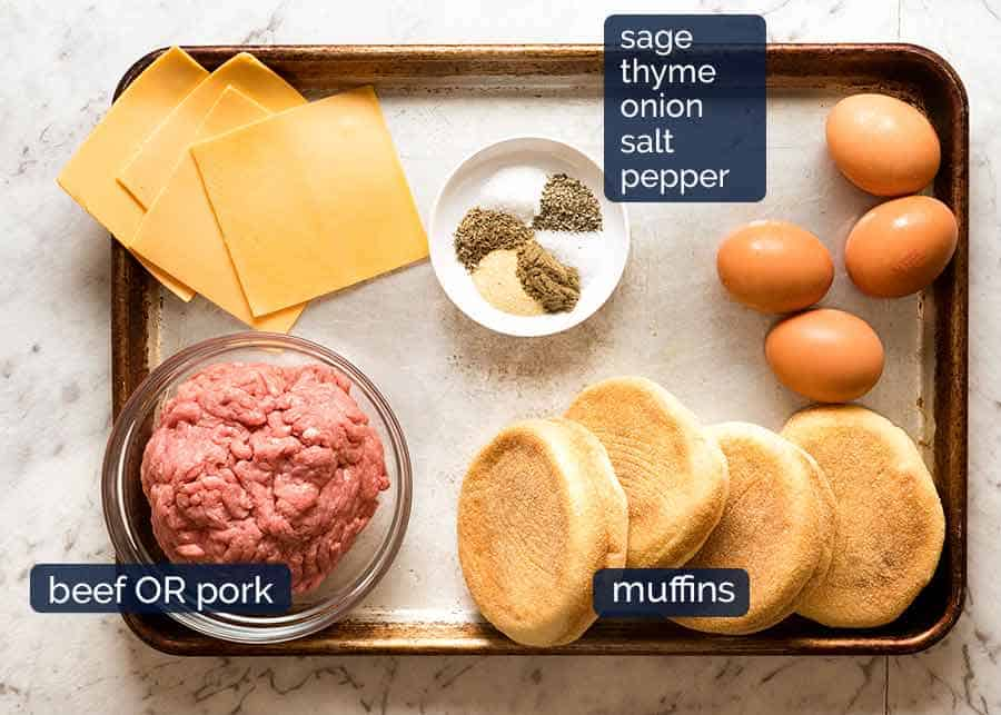 What goes in Sausage and Egg McMuffins