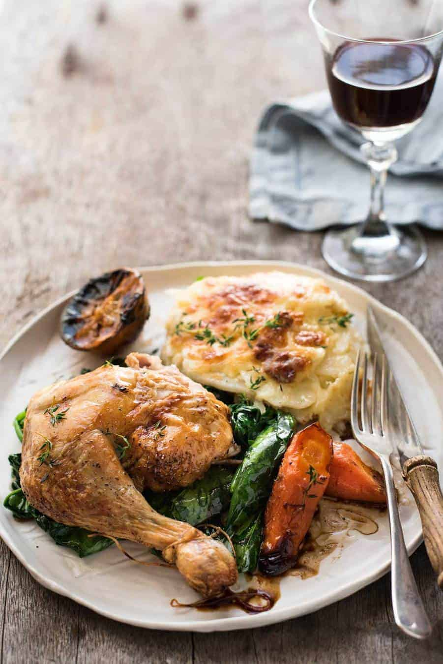 Classic Roast Chicken | I find the table for roasting times for different chicken sizes so useful!