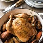 Classic Roast Chicken - No fancy schmancy techniques, no brining, no rubbing butter under skin. Just a straight up easy classic roast chicken for any night of the week.