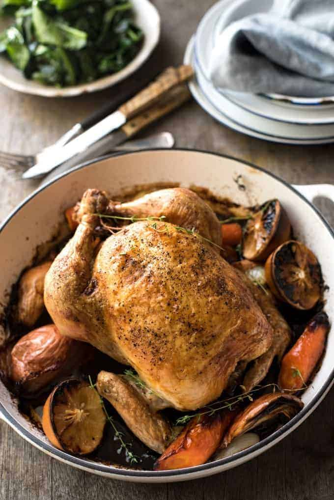 Classic Roast Chicken | This is the only way I make roast chicken, it's perfect!