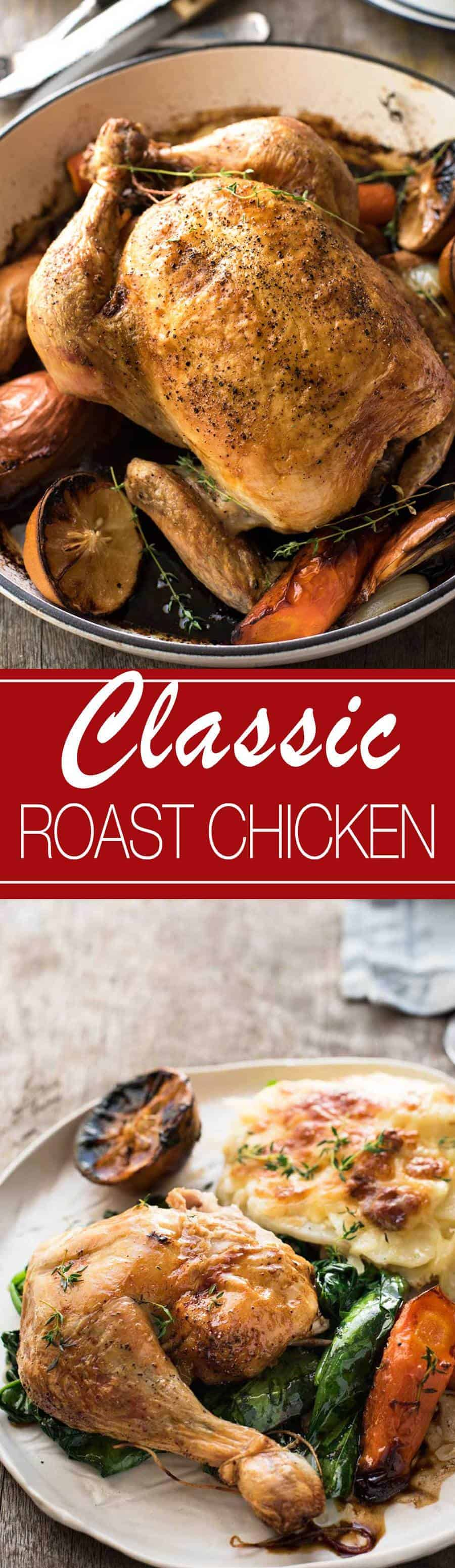Classic Roast Chicken | The roasting times for different chicken sizes is so useful!!!