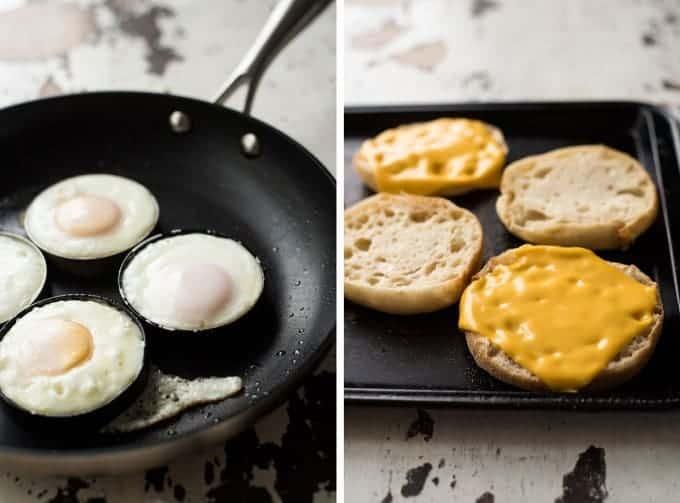 Homemade Sausage & Egg McMuffin