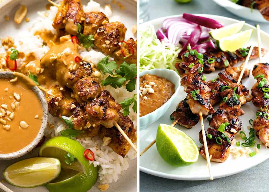 Thai and Indonesian Chicken Satay