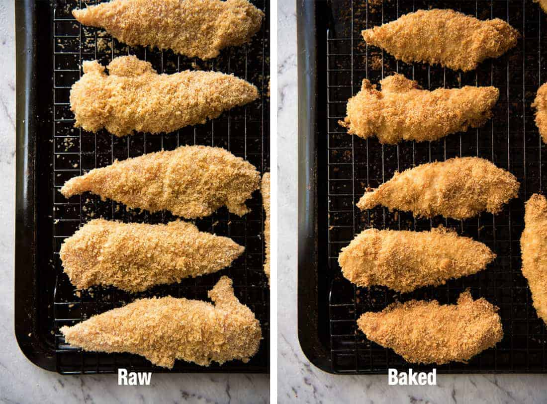 Perfect Oven Fried Parmesan Chicken Tenders