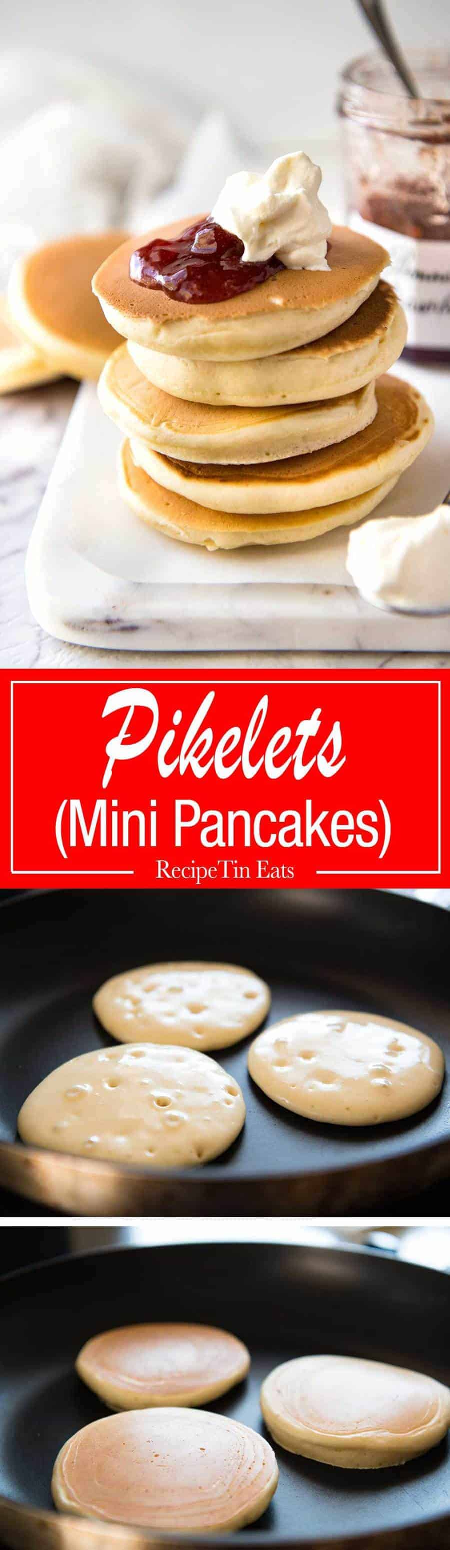 Perfect Easy Pikelets- Easy and fast to make, these are sure to become a family favourite! recipetineats.com