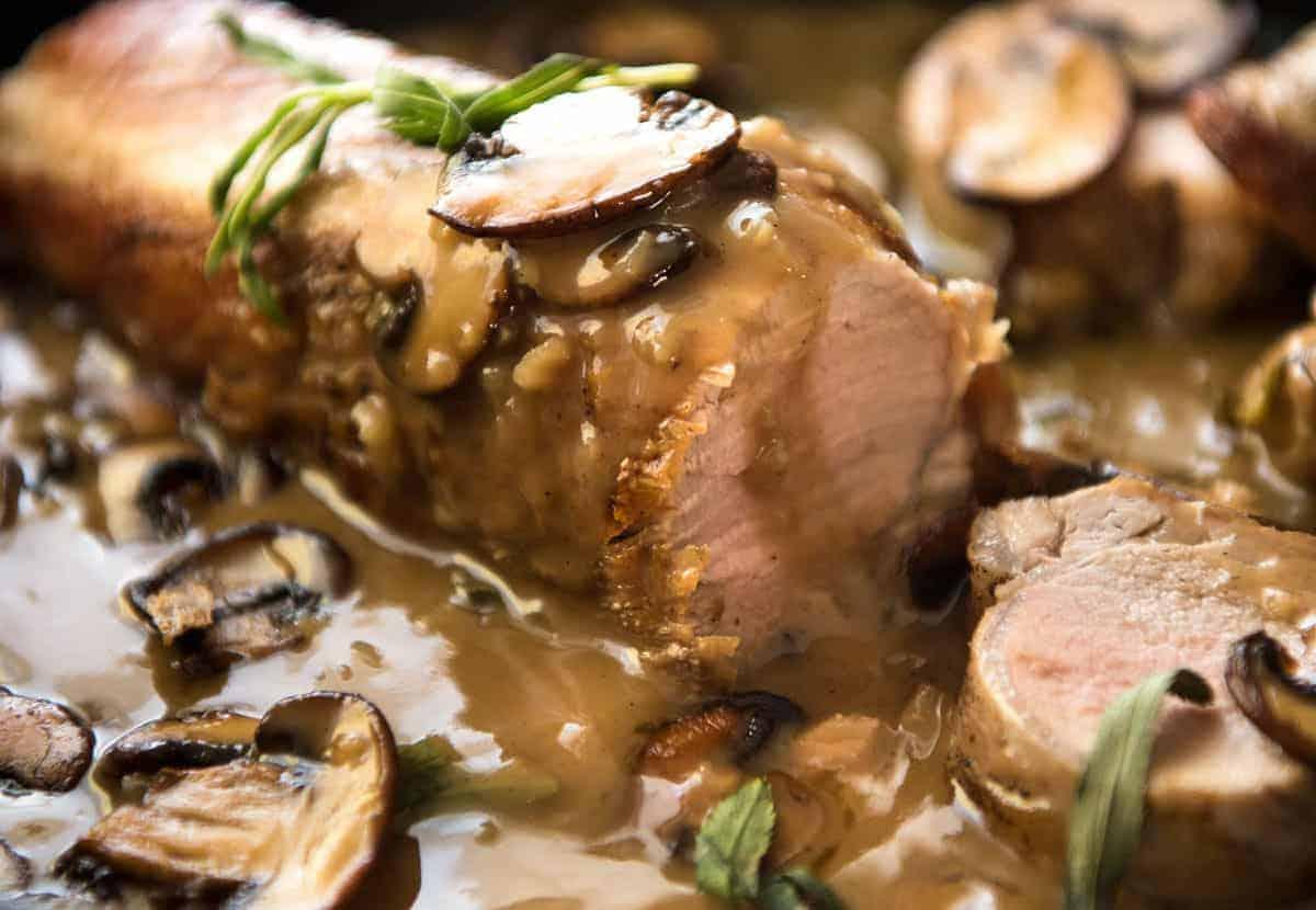 Pork Tenderloin With Creamy Marsala Sauce Recipetin Eats