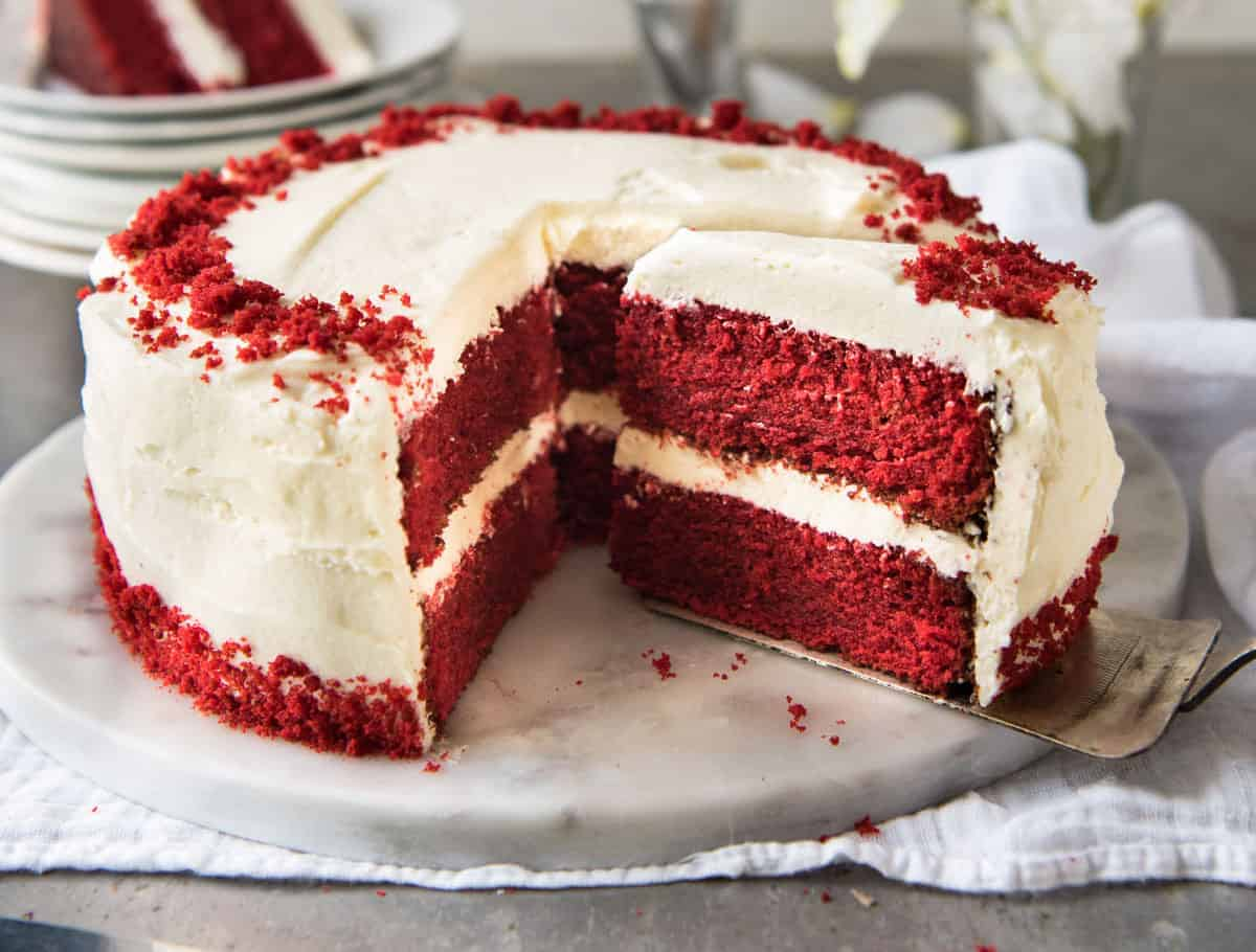 Images Of Red Cake : Red Velvet Cake RecipeTin Eats