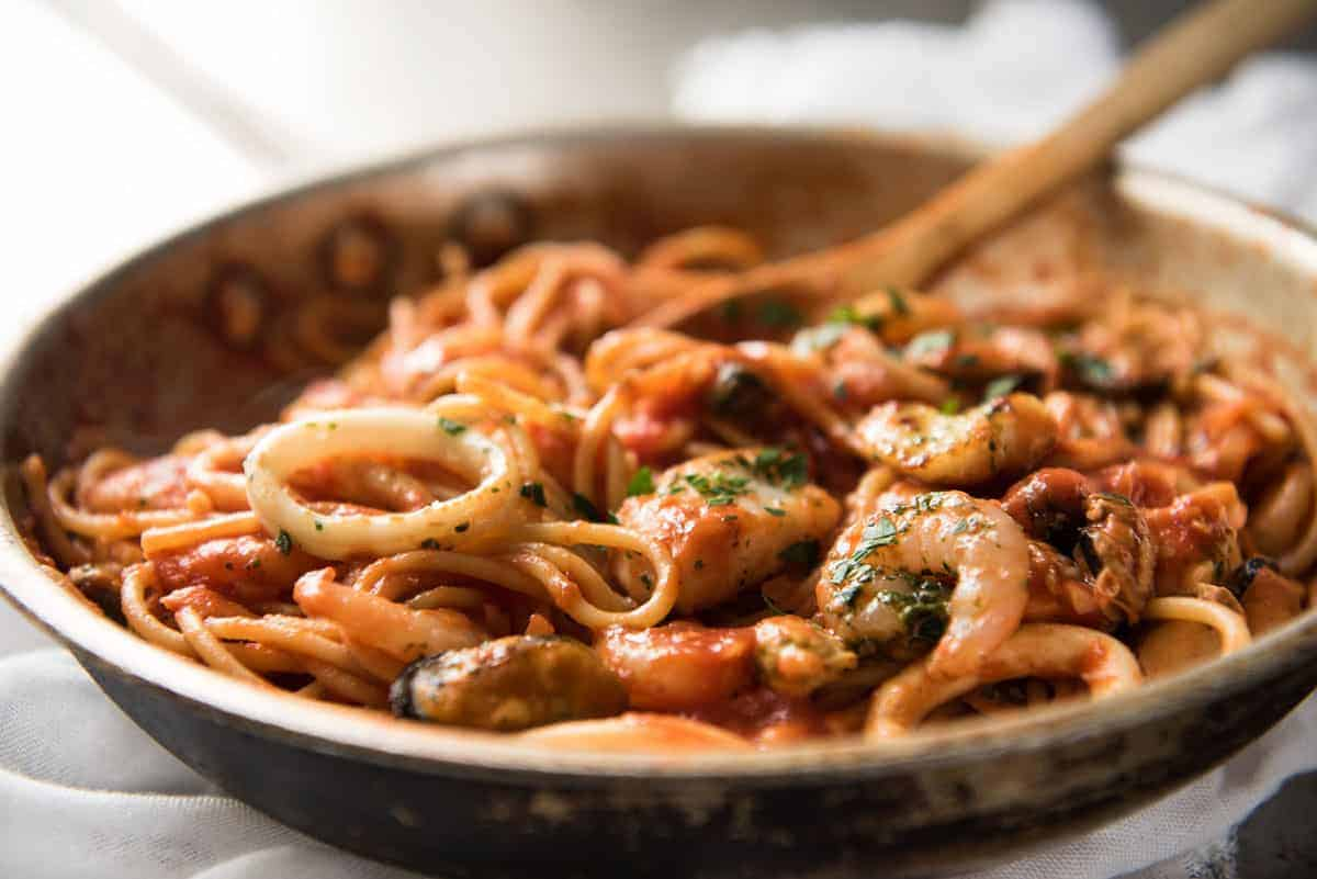 Seafood Spaghetti Marinara | RecipeTin Eats
