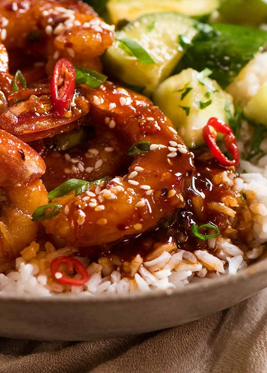 Asian Chilli Garlic Prawns (Shrimp)
