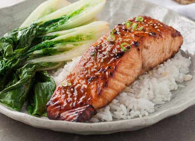 Asian Glazed Salmon | Made this last week, super for a quick midweek meal, INCREDIBLE flavour with just 5 ingredients! www.recipetineats.com