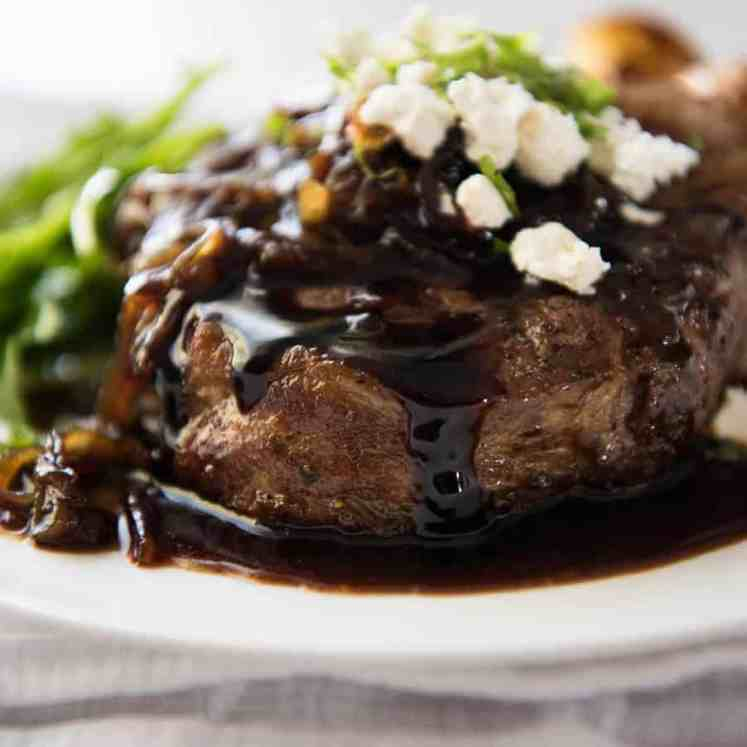 These Balsamic Pork Chops are fantastic for midweek meals - so fast and easy! The sweet tangy balsamic glaze is incredible! www.recipetineats.com