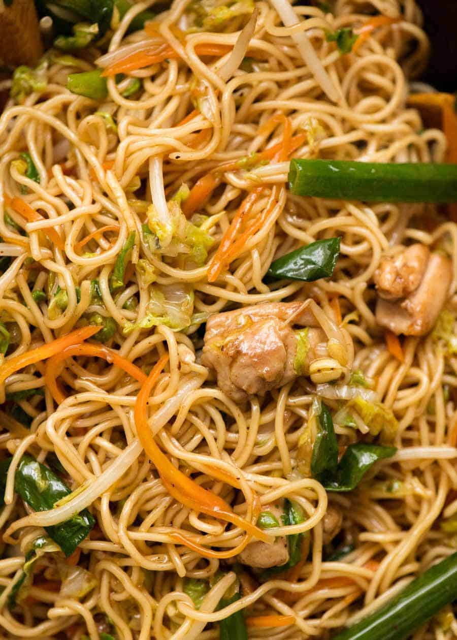Close up of Chicken Chow Mein