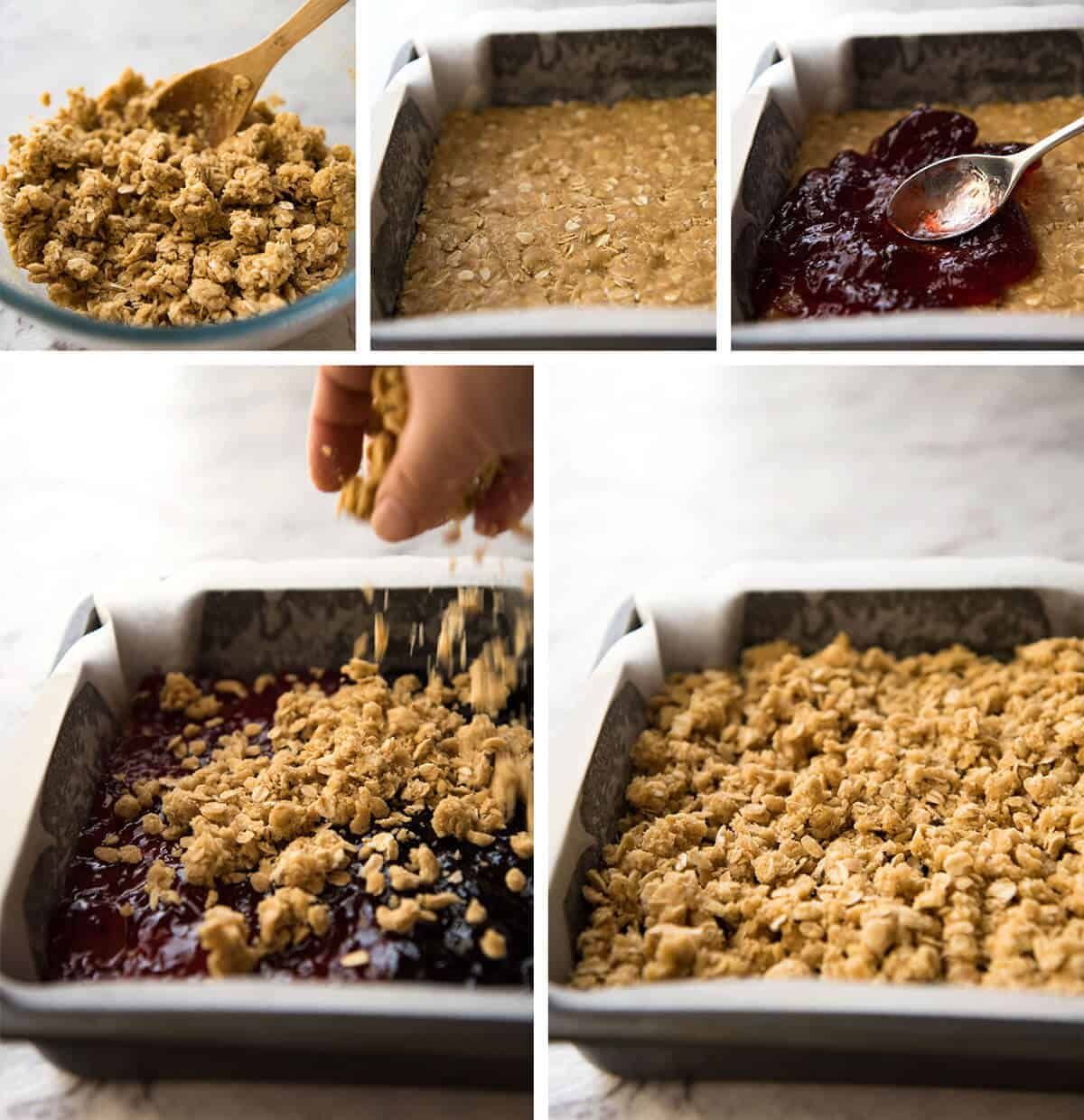 How to make Raspberry Bars www.recipetineats.com