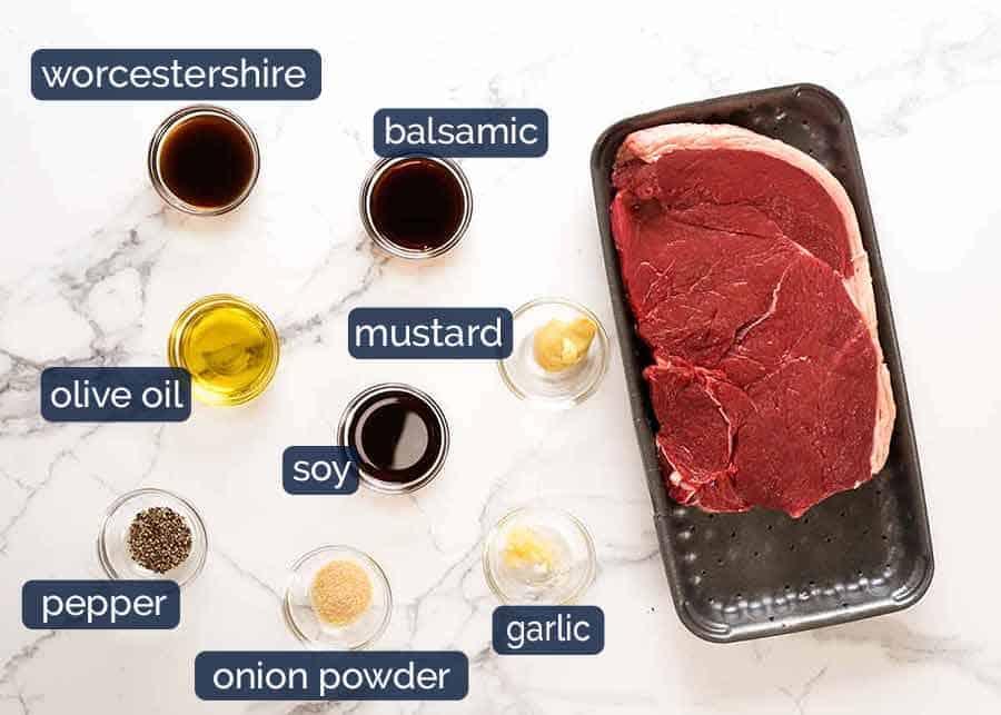 Ingredients for Steak Marinade