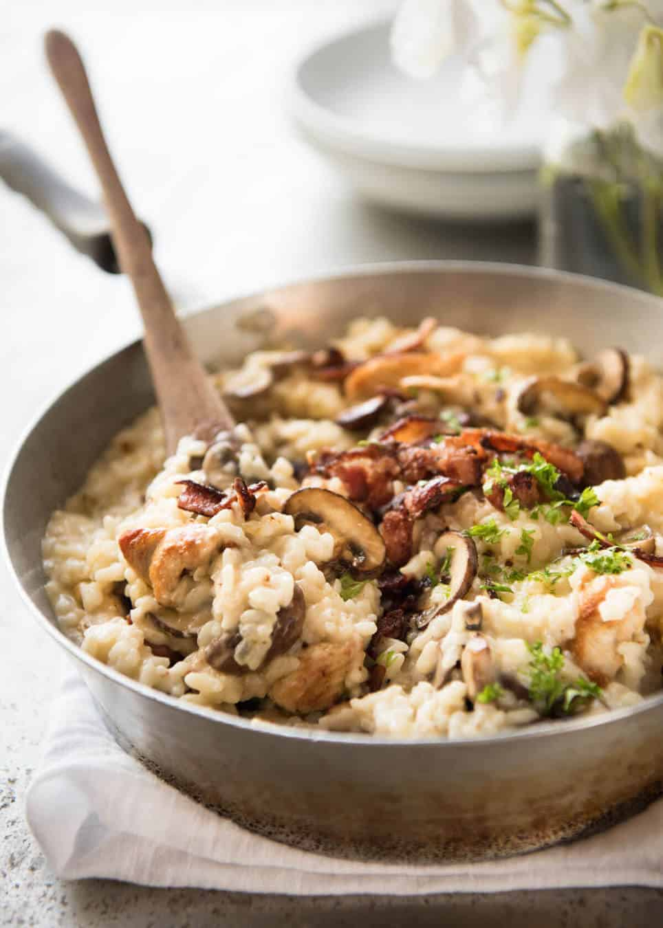 chicken and mushroom risotto recipetin eats ForHow Do I Make Chicken Risotto