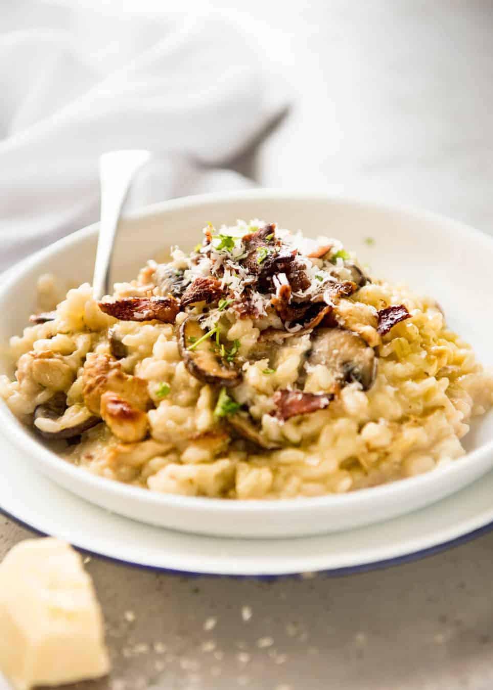 Chicken and mushroom risotto recipetin eats for Ham risotto recipe
