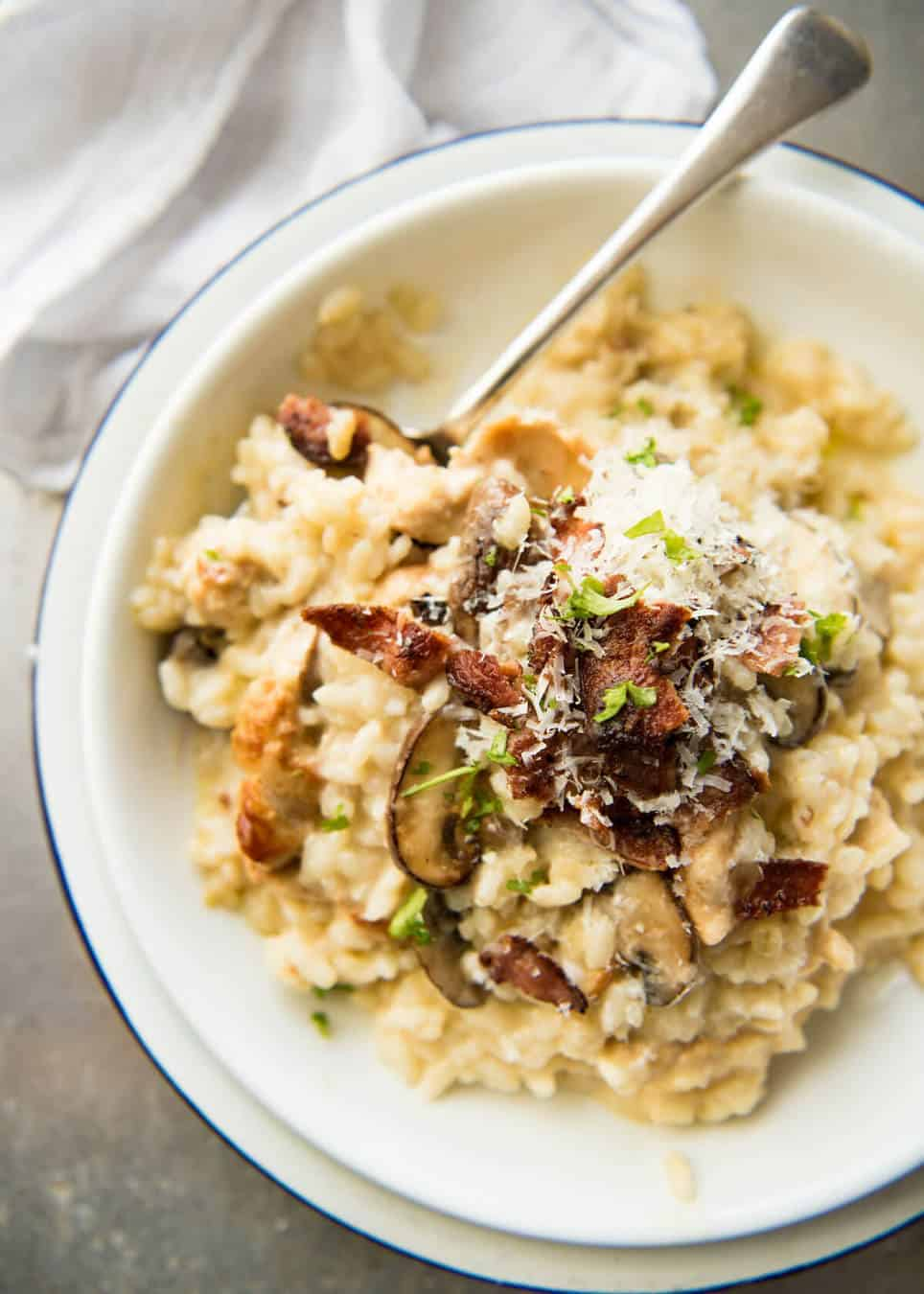 Chicken And Mushroom Risotto Recipetin Eats