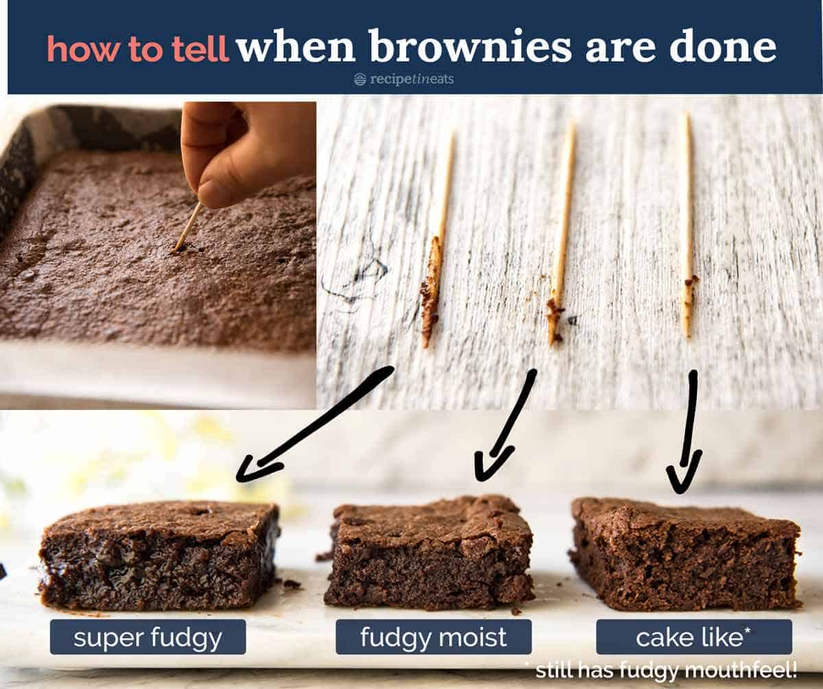 How to tell when brownies are done - toothpick test
