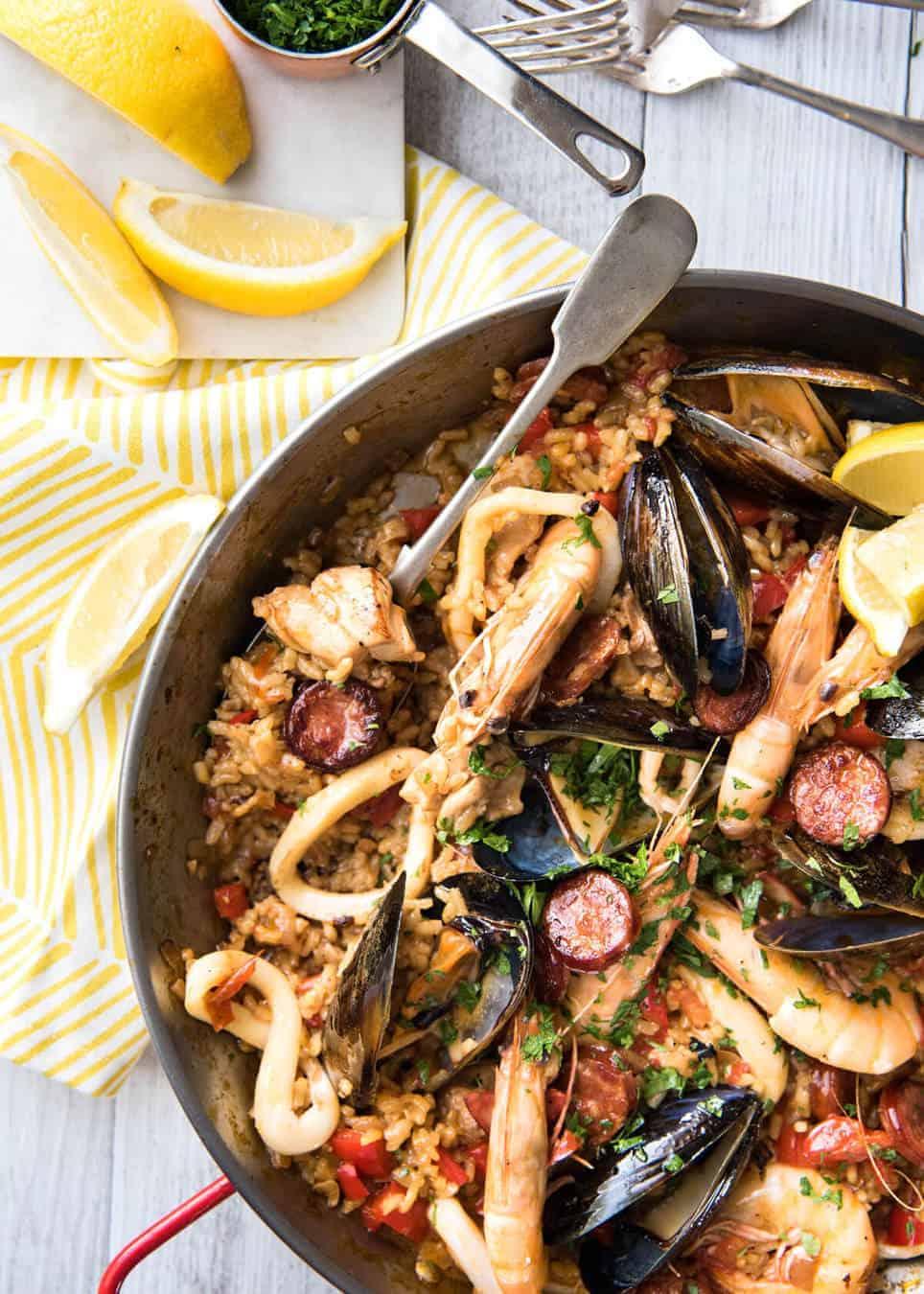Spanish Paella Recipetin Eats