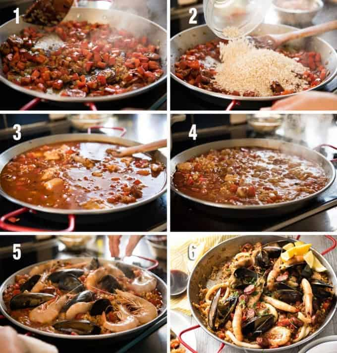 Paella_steps