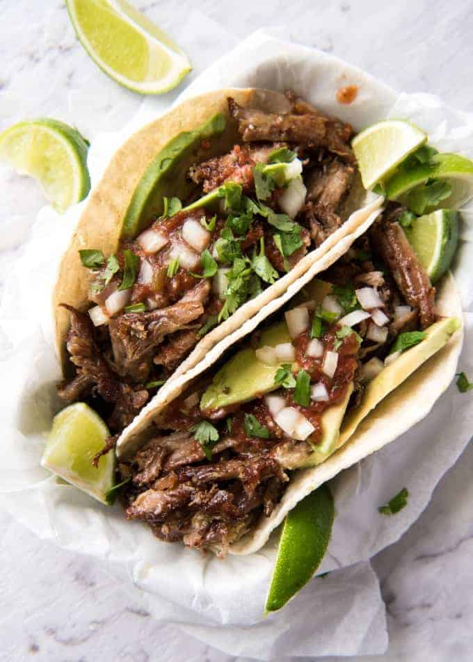 Pork carnitas tacos good food wine show recipetin eats mexican pulled pork tacos the juiciest easiest most flavoursome pork carnitas you will forumfinder Image collections