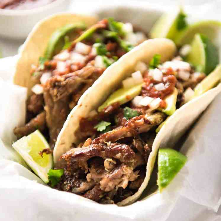 Mexican Pulled Pork Tacos - the juiciest, easiest, most flavoursome Pork Carnitas you will ever make! recipetineats.com